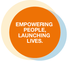 Empowering people, Launching lives.