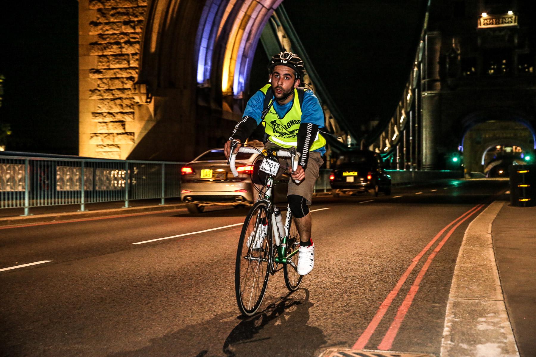 Nightrider cyclist