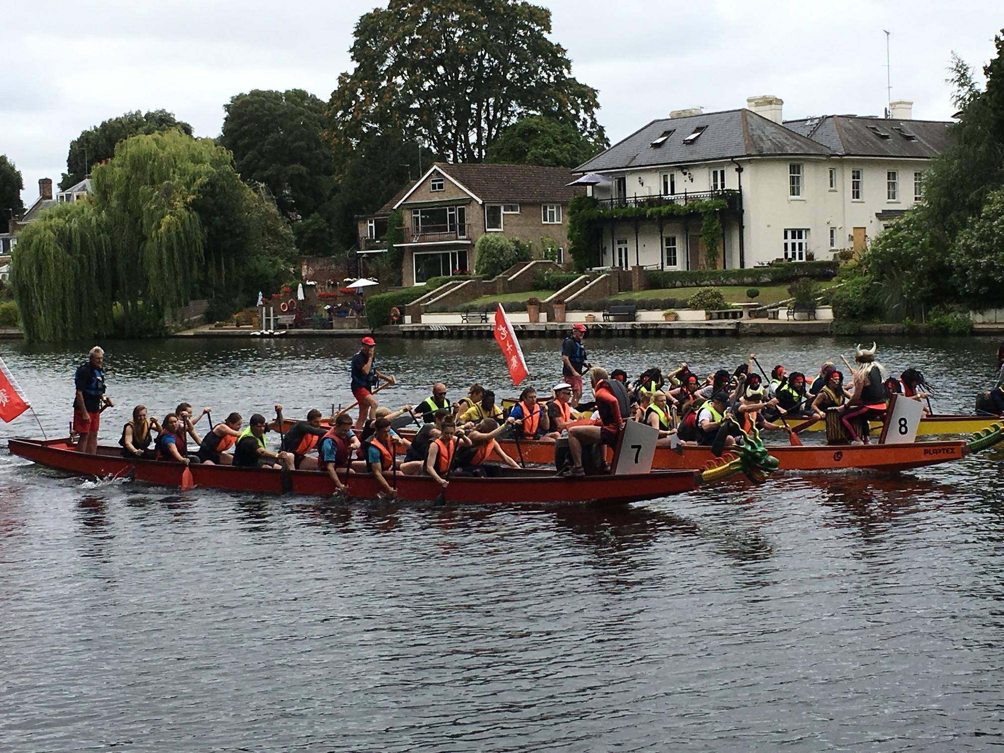 Dragon Boat Challenge participants