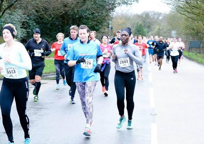 Tracie training for marathon