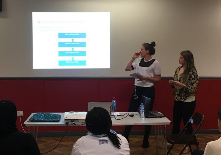Staff giving a seminar at Wandsworth Autism Fayre