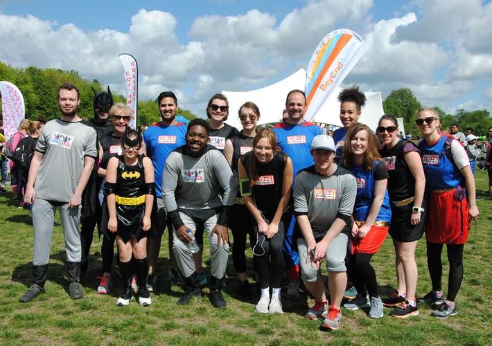 Superhero running team
