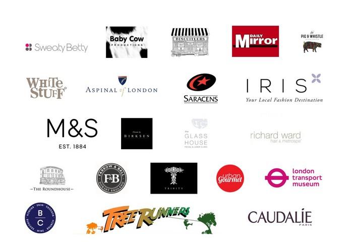 Logos of quiz night donors