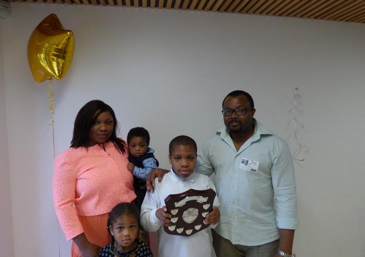 Karen Sorab Award winner - lower school
