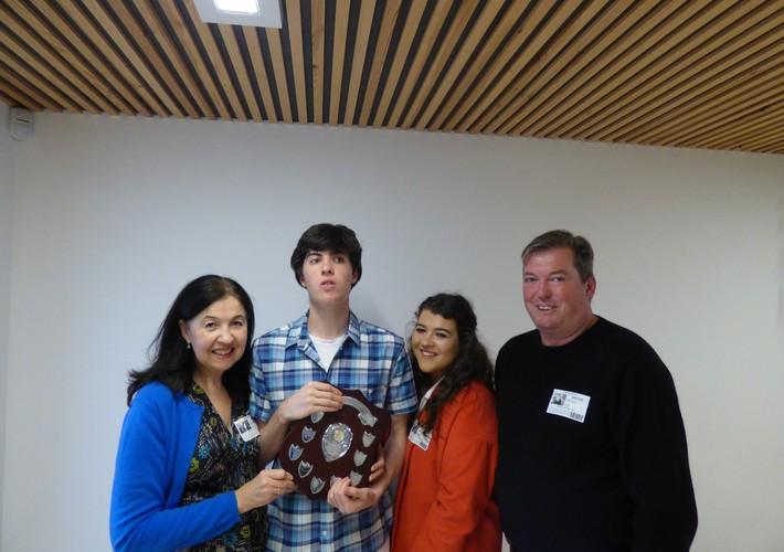 Karen Sorab Award winner - upper school