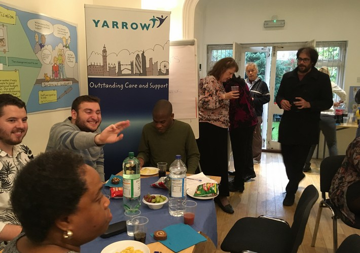 Post-19 students at Yarrow welcome lunch