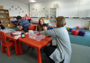 Parent and child at an Early Years workshop