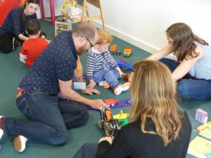 Child and parent at an Early Years workshop
