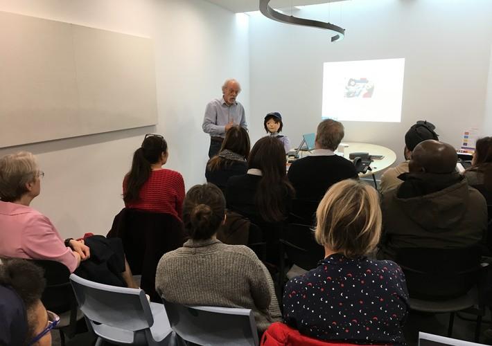 Dr Ben Robins demonstrating Kaspar