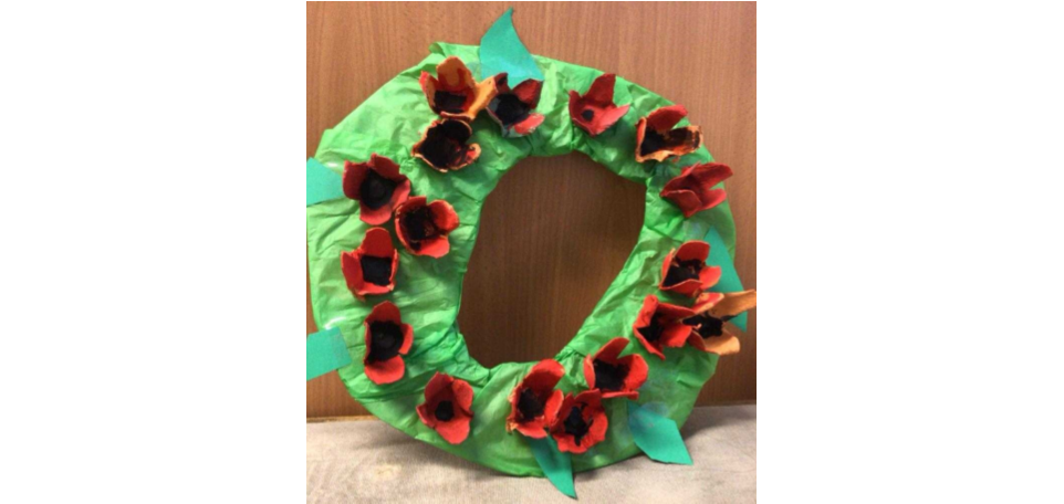 Post-19 Remembrance Day wreath