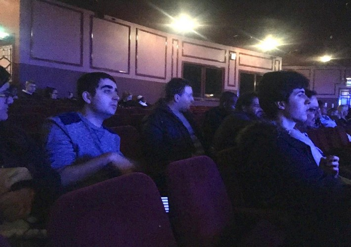 Post-19 students at the theatre