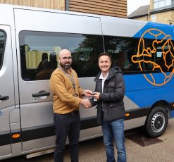 Dennis Wise In The Community donate minibus to BeyondAutism
