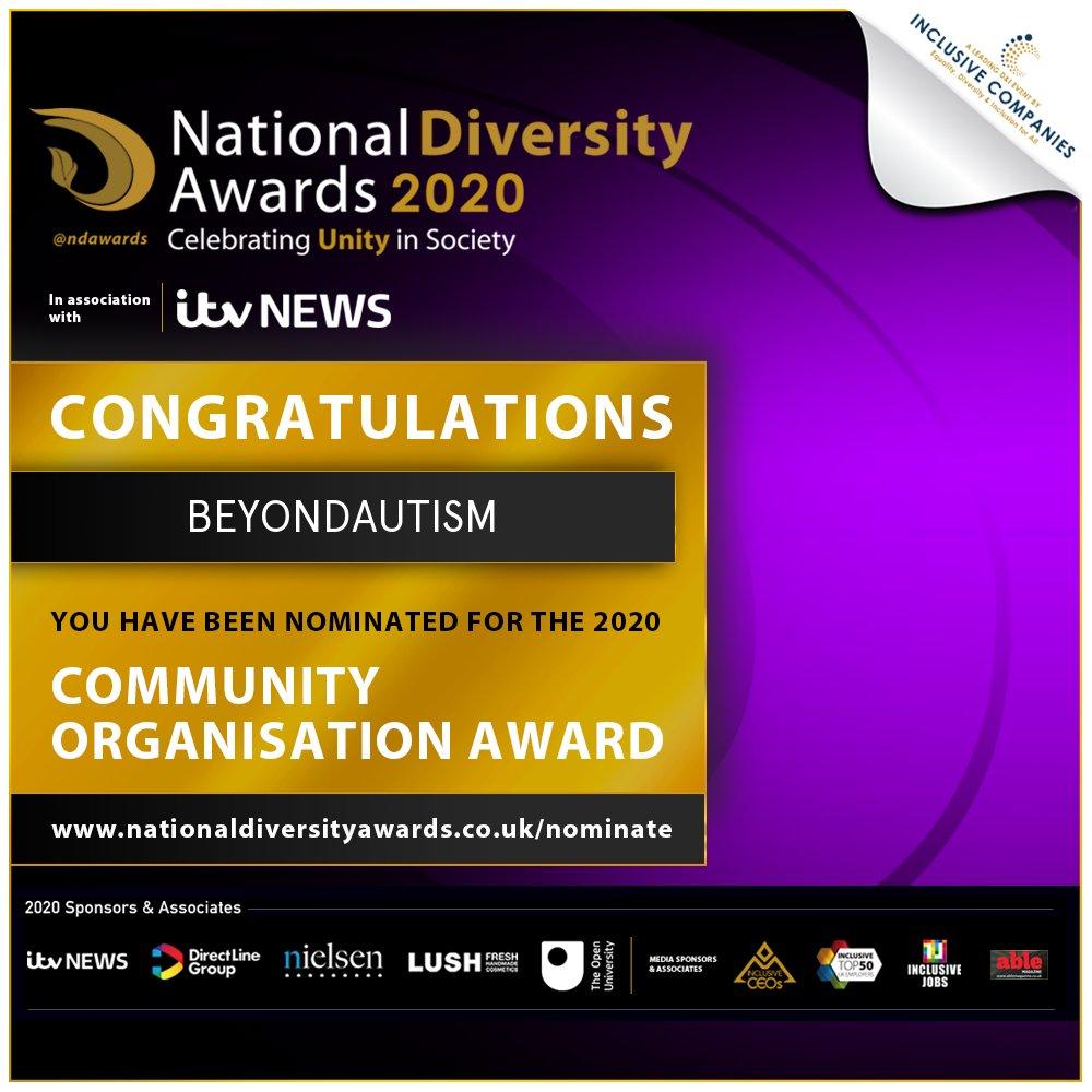 National Diversity Awards nomination