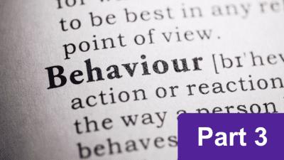 Behaviour analysis course: part 3