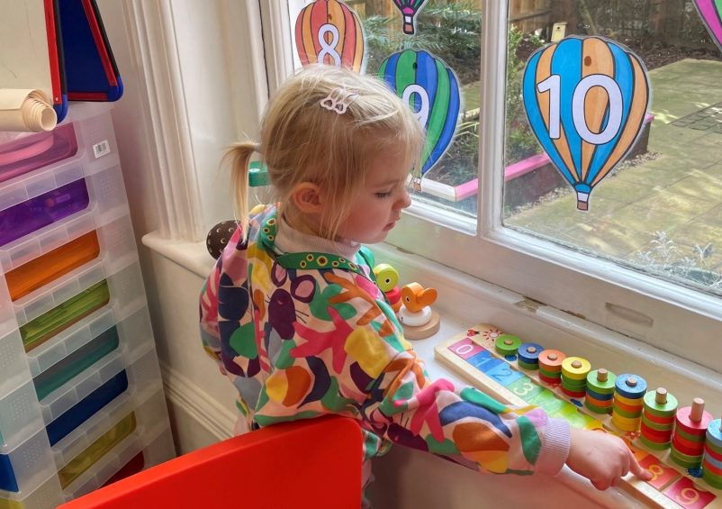 Early Years' child playing
