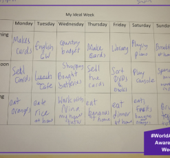 What does an ideal week look like for our pupils?