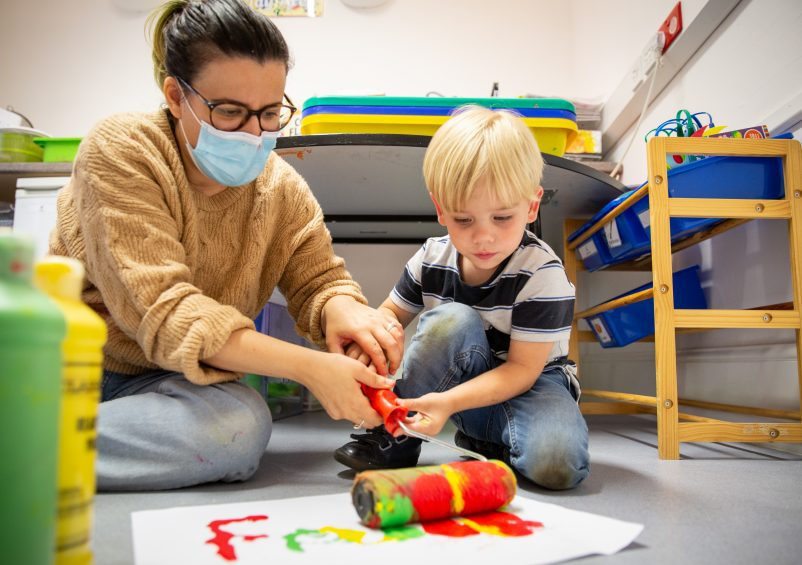 Child and Tutor painting