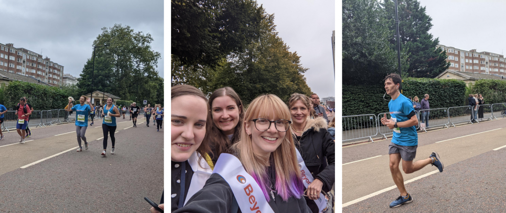 Royal Parks Half Marathon collage